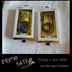 2 NEW iHome Charging Cords